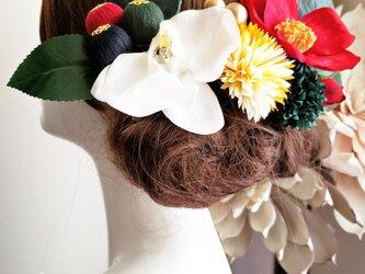 花雅 江戸椿と和玉ボールの髪飾り10点Set No801の画像
