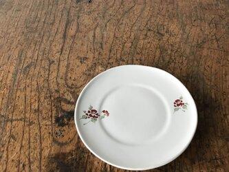 色絵 リム小皿 椿の画像