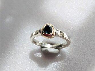 k10+sv925 インディゴライト トルマリンのリング  の画像
