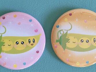 オリジナルデザイン缶バッチ:えんどう豆さんの画像