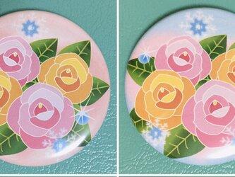 オリジナルデザイン缶バッチ:Four Rosesの画像