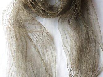 草木染めストール キンモクセイの画像