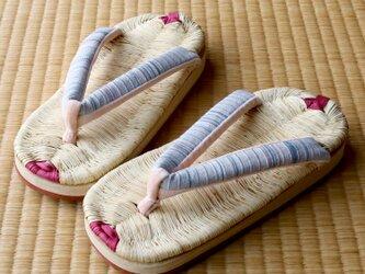 『草履サンダル』7寸8分(約23~24cm)■お外でもお家でもどちらでも履けます。■手仕事一点物【在庫有り】の画像