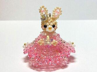 春・お雛様・着物ドレス・ウサギ・ビーズドールの画像