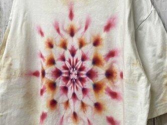 タイダイ染め ビッグシルエット Tシャツ Lサイズ 曼荼羅 ムラ染めベージュ Hippies Dye HD13-75の画像