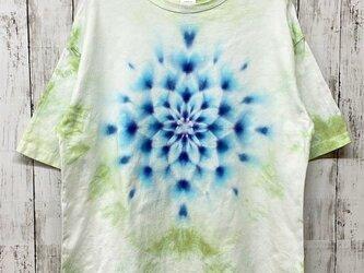 タイダイ染め ビッグシルエット Tシャツ Mサイズ 曼荼羅 グリーンムラ染め Hippies Dye HD13-76の画像