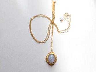 古代地中海の装身具~ブルーレースアゲートのネックレス~の画像