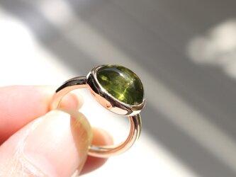 Olive drop (ペリドット K10 リング)の画像