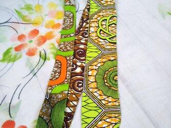アフリカ布リバーシブル変形ネクタイの画像