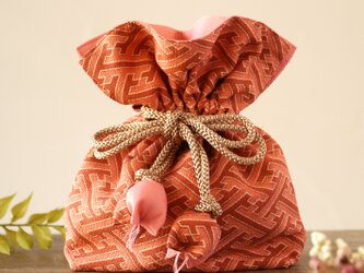 着物 巾着 工の字繋ぎ文 幸せを呼ぶFUGUROの画像