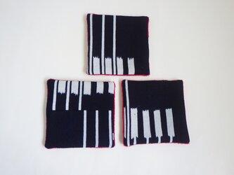 浴衣のコースター 矢羽根の画像
