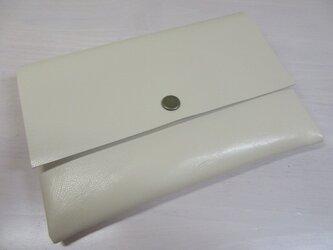 A6、お薬手帳、母子手帳対応・ゴートスキン・一枚革のマルチケース・カードポケット付き・0225の画像