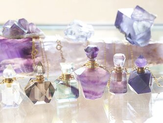 Gem Bottle Long Necklace-Aromaoil/Perfume-[No 7/9]の画像