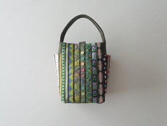 USA RIBBON one handle bag (green)の画像