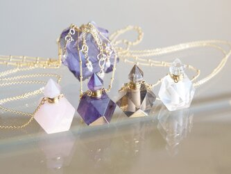 Gem Bottle Long Necklace-Aromaoil/Perfume-[No1-4/8.10]の画像