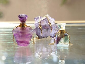 Gem Bottle Long Necklace-Aromaoil/Perfume-[No6]の画像