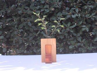木の花瓶(階段付き)【タモ】の画像