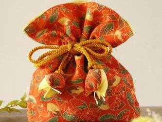 着物 巾着 扇文 幸せを呼ぶFUGUROの画像