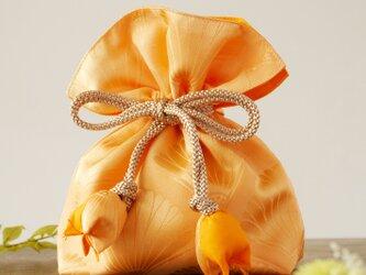 着物 巾着 青海波文 菊文 幸せを呼ぶFUGUROの画像