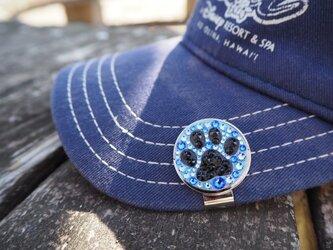 ゴルフマーカー(肉球・ブルー)の画像