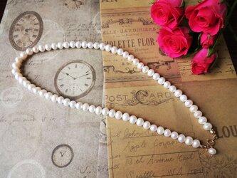 14kgホワイト淡水真珠ネックレスの画像