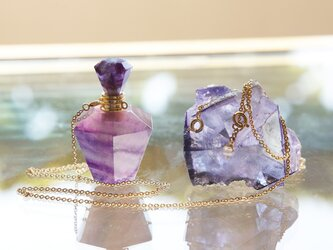 Gem Bottle Long Necklace-Aromaoil/Perfume-[No5]の画像