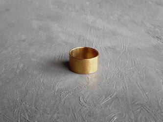 真鍮 シンプルなつや消しリングの画像