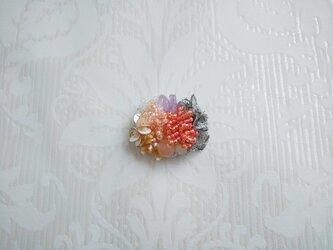 #61  刺繍ブローチ ミニ花束 ピンクの画像