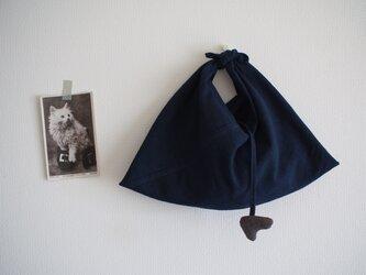 藍染 あずま袋の画像