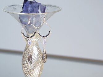 【The Muse/ Inspiration-002】14KGF Eternity Gemstone Earringsの画像