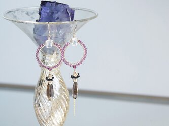【The Muse/ Inspiration-003】14KGF Eternity Gemstone Earringsの画像