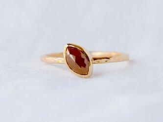 Chocolate Marquise Diamond Ringの画像