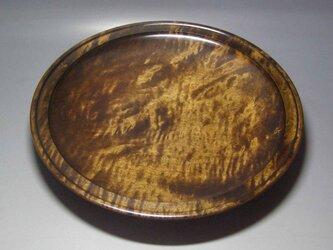 楓斑杢蘇芳染盛器の画像