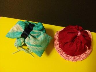 お人形用帽子二種の画像