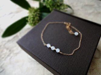 Fortune Ring Bracelet ■14kgf 天然石・誕生石■ ホワイトムーンストーン 6月の画像
