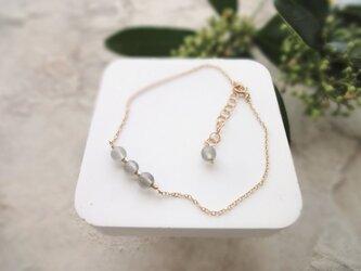 Fortune Ring Bracelet ■14kgf 天然石・誕生石■ グレームーンストーン 6月の画像