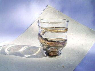 色雲母グラス ブラウン・ギフトラッピング無料の画像