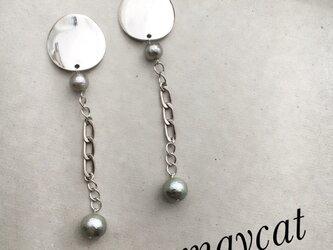 silver cotton pearl × silver × silver…の画像