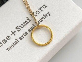 K24 Pure Gold Ring Pendant◇純金の輪ペンダントトップの画像
