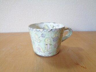 マグカップ 編み物ネコの画像