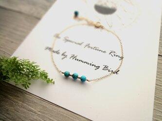 Fortune Ring Bracelet ■14kgf 天然石・誕生石■ ブルーターコイズ 12月の画像