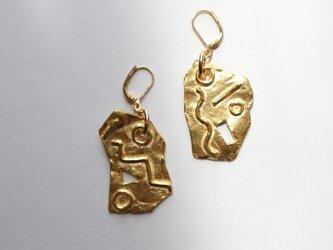 Dancing geometry pierce(earring)の画像