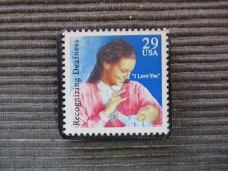 アメリカ 切手ブローチ7344の画像