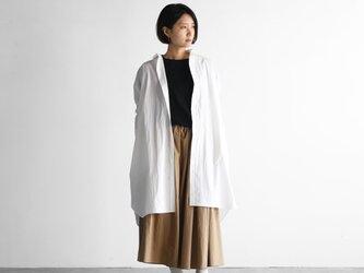 タイプライタークロスロングシャツ(白)【ユニセックス】004の画像