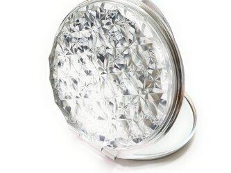 東京切子コンパクトミラー 華六花 Futuristic Silverの画像