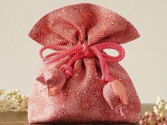 再販 着物 巾着 紅葉文 梅文 幸せを呼ぶFUGUROの画像