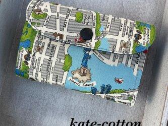 ■軽い!ミニ財布☆ニューヨーク・地図柄☆NYの画像