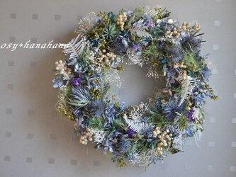 【母の日2021】wreath「青のオアシス」の画像