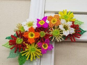 バレッタ Bouquet  (ビビッドガーベラ)の画像