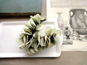 紫陽花のバナナクリップ ■ 初夏色のビッグシルエット ■ シーフォームグリーンの画像